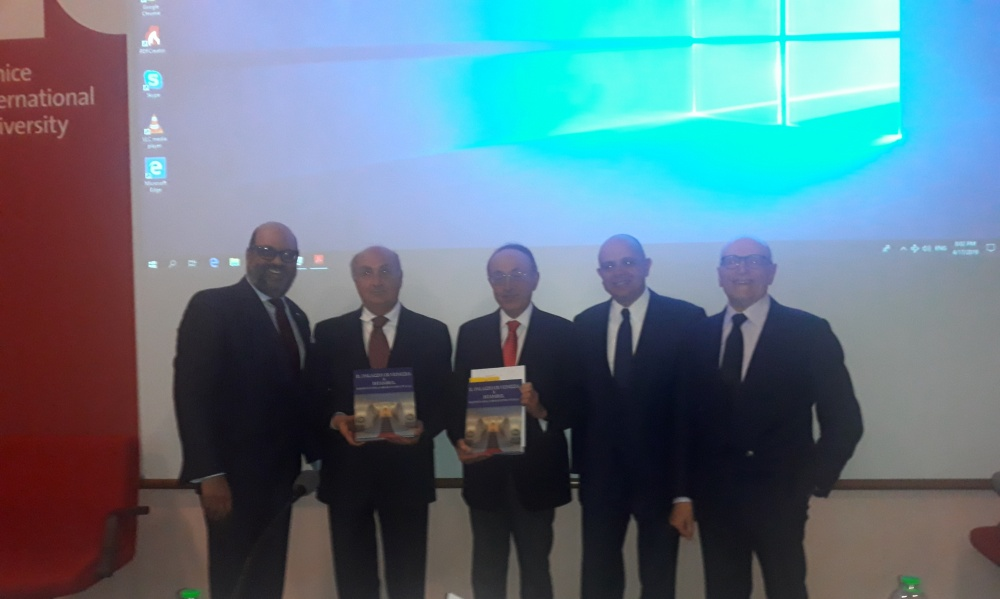 Alla venice international university presentato volume il for Dove ha sede il parlamento italiano