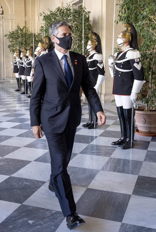 L'arrivo al Palazzo del Quirinale del Segretario di Stato degli Stati Uniti d'America, Antony John Blinken