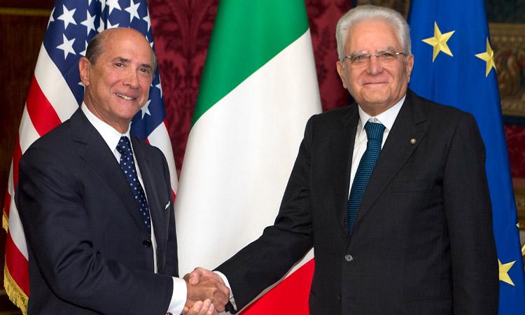 L´amb. Eiisenberg con il presidente Mattarella
