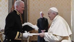 Amb Christopher John Trott con Papa Francesco (foto Vatican News)