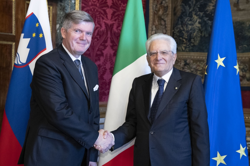 Il neo ambasciatore Tomaz Kunstelj, Repubblica di Slovenia