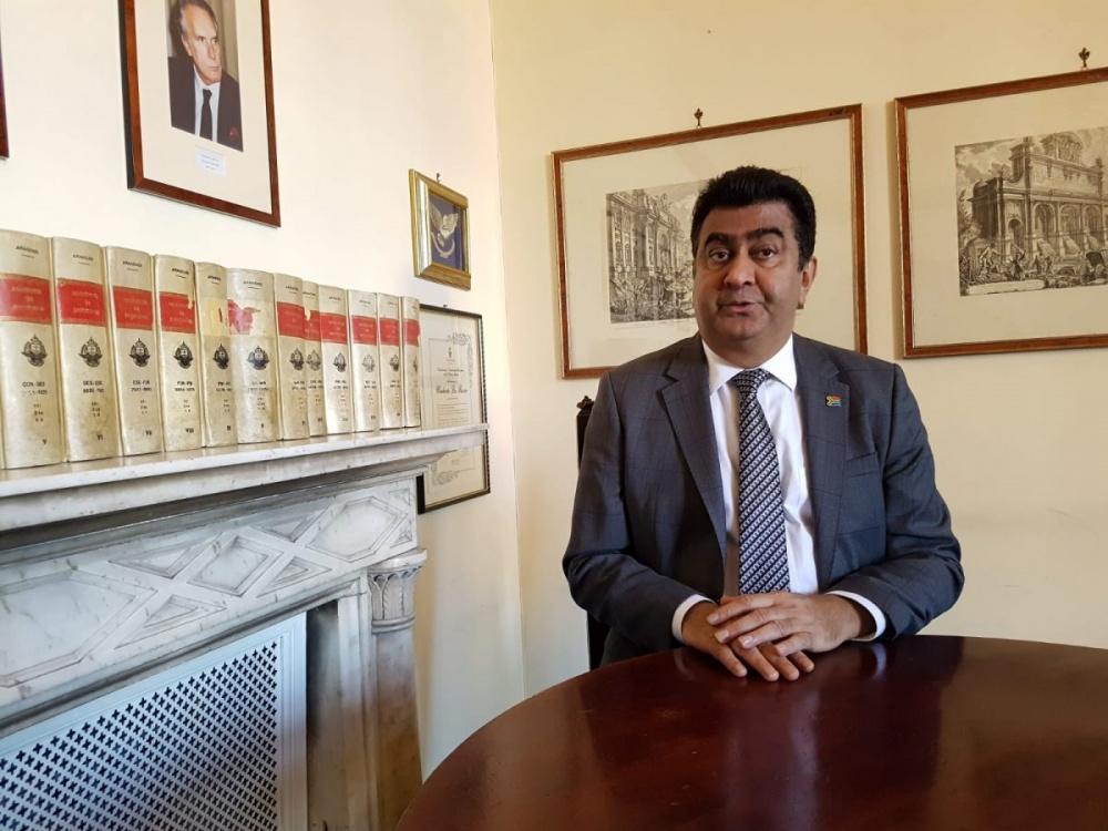L'ambasciatore del Sud Africa in Italia, prof. Shirish M. Soni