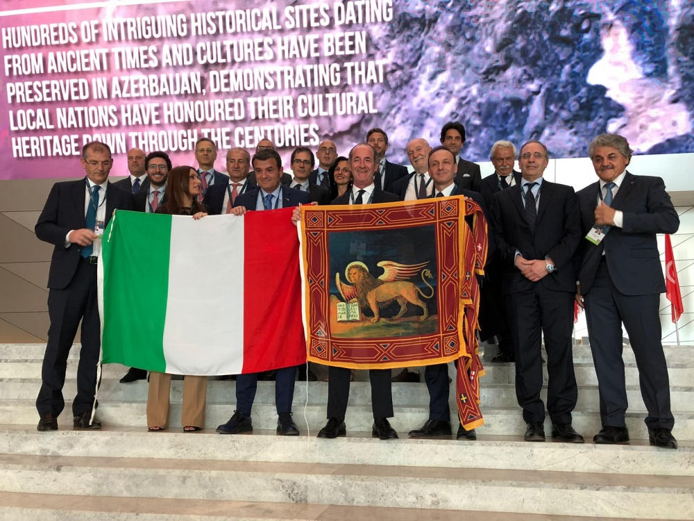 La delegazione italiana a Baku (foto Regione Veneto)