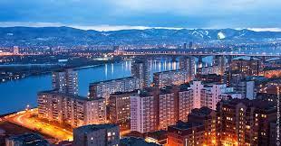 La città di Krasnoyarsk