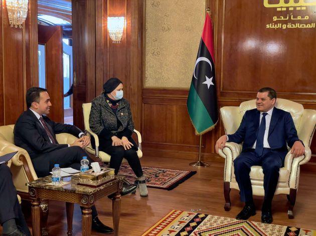Il ministro degli Esteri Luigi Di Maio in Libia - Foto Farnesina