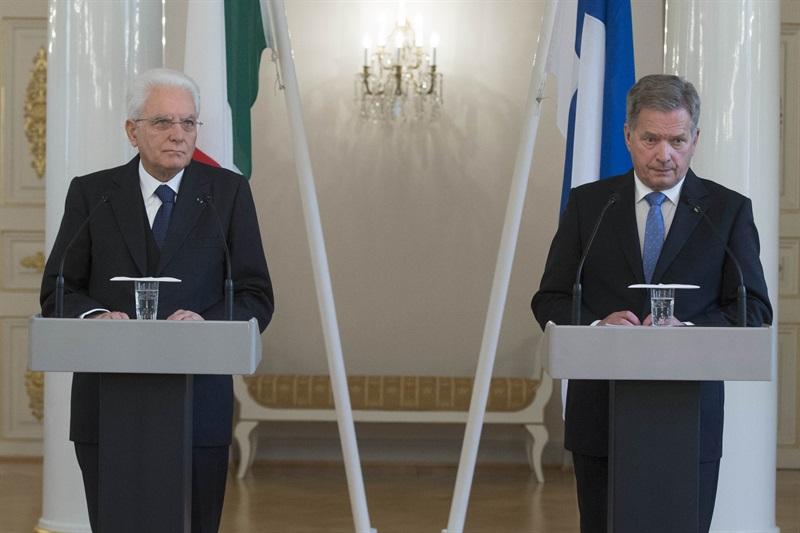I presidenti della Repubblica dei Finlandia e Italia