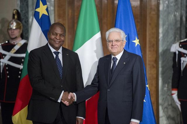 Il Presidente Sergio Mattarella incontra il Presidente della Repubblica Centrafricana, Faustin - Archange Touadéra