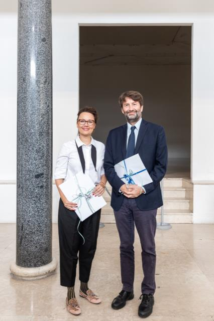 Il ministro Dario Franceschini con la collega ministro della Cultura della Repubblica Federale Tedesca, Michelle Müntefering