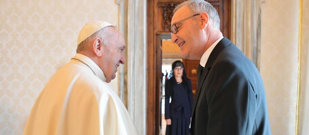 Il presidente della Confederazione Elvetioca Guy Parmelin ha incontrato il Papa