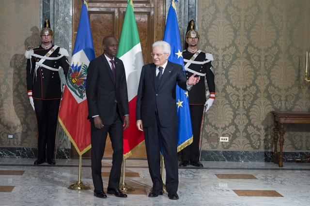 Il Presidente della Repubblica Sergio Mattarella con il Presidente della Repubblica di Haiti Jovenel Moïs