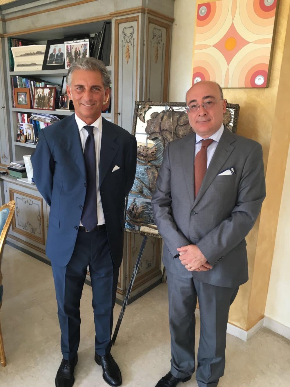 L´amb. Cristiano Gallo ed Enrico Pinocci