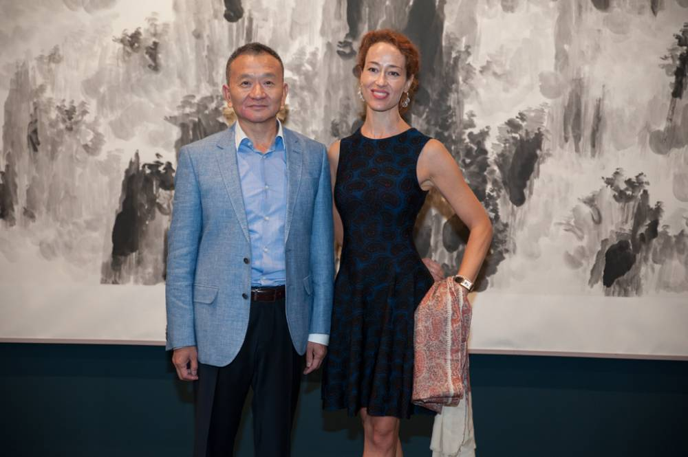 L´artista Mao Jianhua e la curatrice Martina Marzotta
