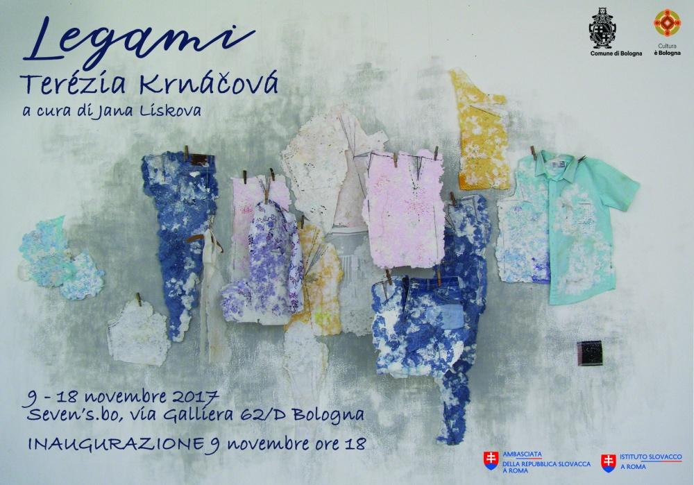 Locandina della mostra della giovane artista slovacca Terézia Krnáčová