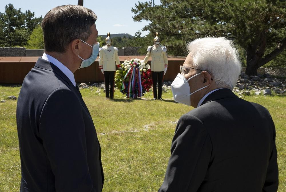 I presidenti sloveno Pahor e italiano Mattarella alla Foiba di Basovizza