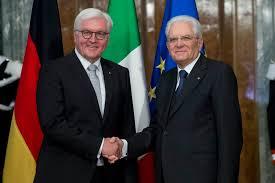 Presidente Mattarella e Frank-Walter Steinmeier