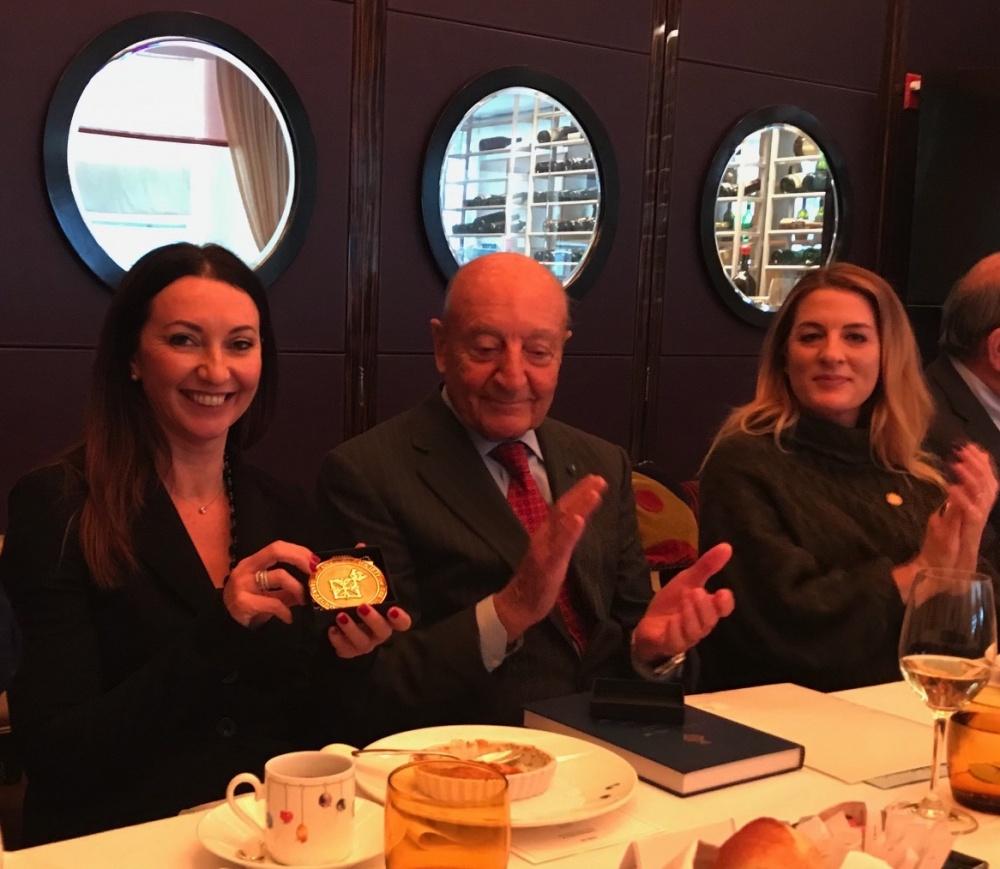 Nella foto: da sinistra, Silvia Limoncini; il presidente dell´ASILM, Cavaliere di Gran Croce Lucio Caputo; Dolores Alfieri, Director of Italian American Affaire del Governatore Andrew Cuomo.