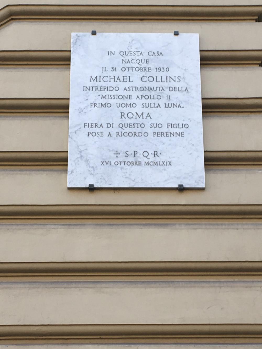 La casa di Michael Collins a via Tevere a Roma