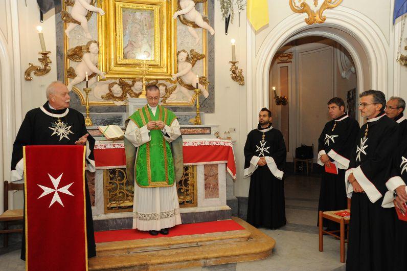 SMOM: Il marchese Bisleti alla messa conventuale (Foto Carla Morselli)