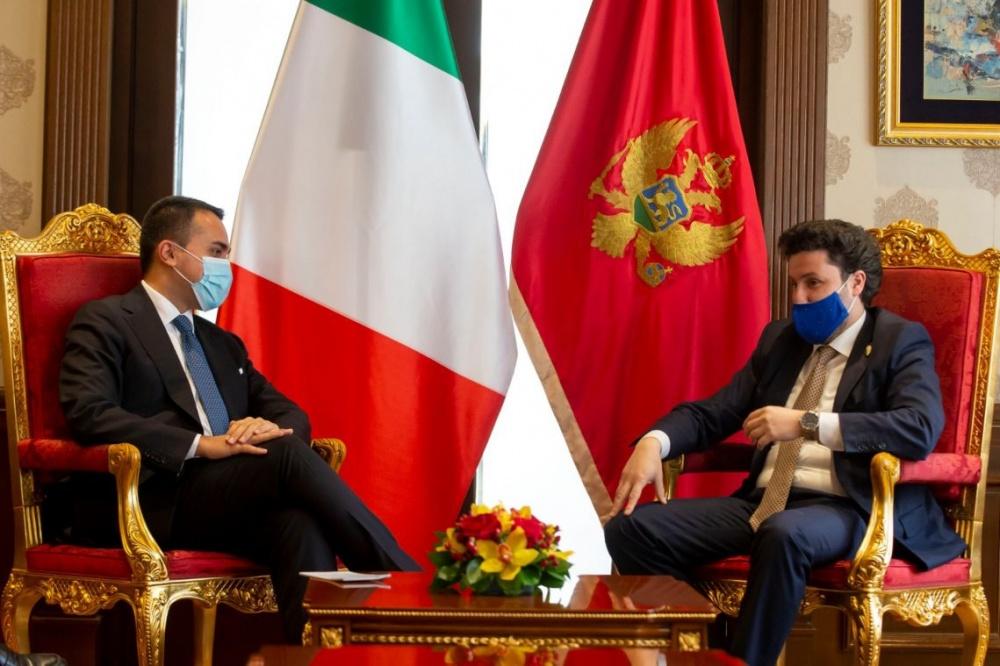 Di Maio con il Vice Primo Ministro del Montenegro Dritan Abazović