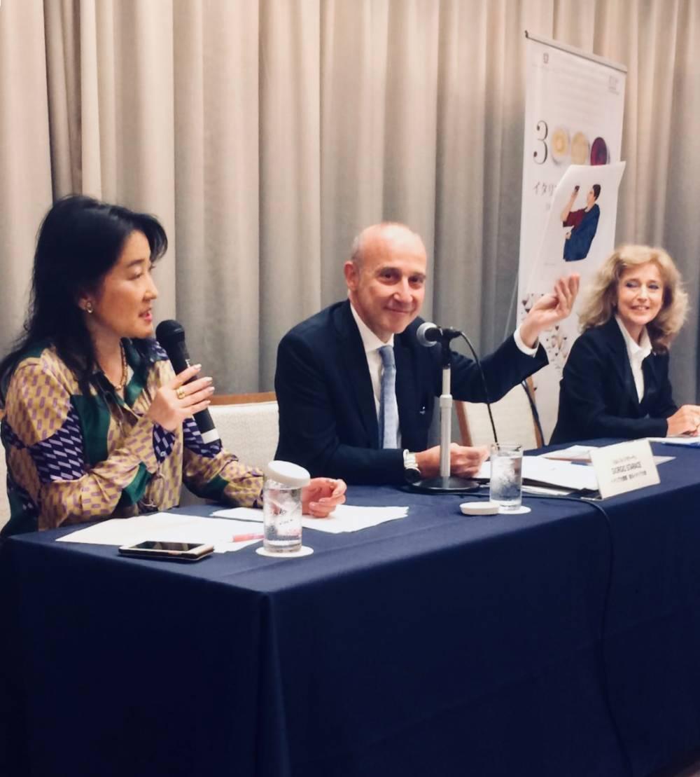 """La conferenza stampa di presentazione """"Tremila anni di vino italiano"""" a Tokyo"""